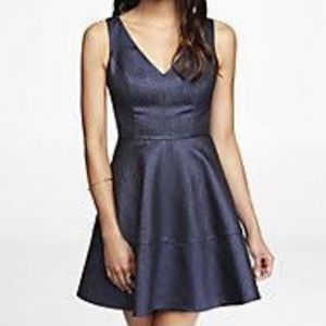 Express sparkling fit and flare dress